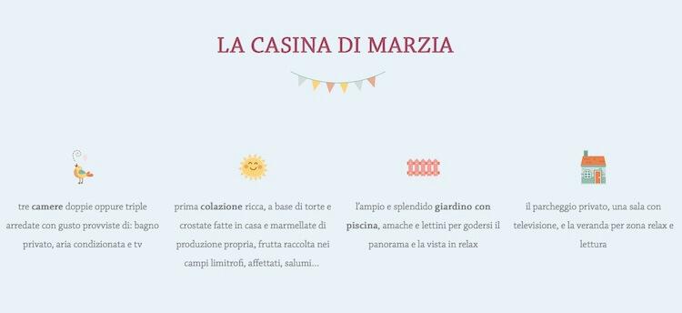 Il restyling del sito internet per il B&B La Casina di Marzia