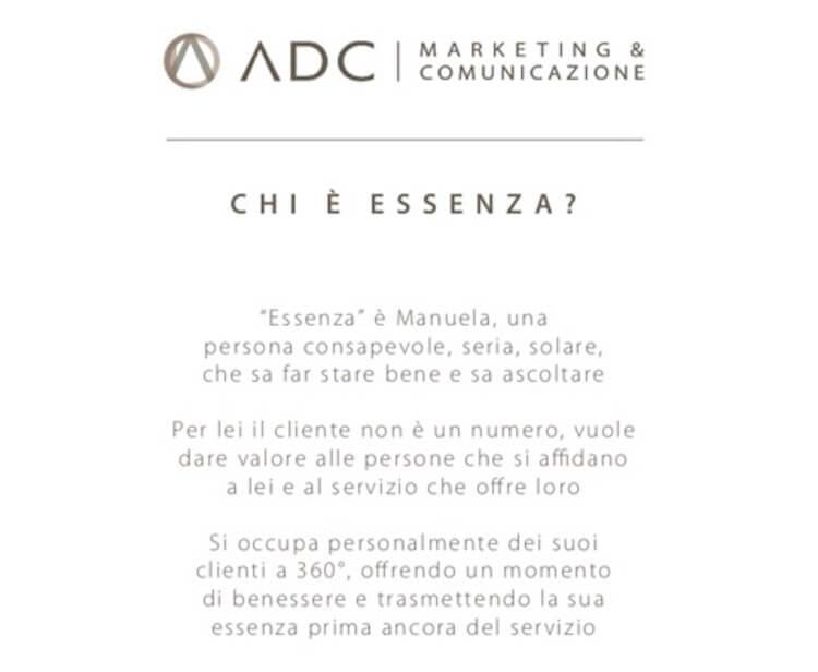 ADC Marketing e Comunicazione definisce il namig aziendale per una nuova start up in provincia di Ravenna, Essenza Estetica e Makeup.