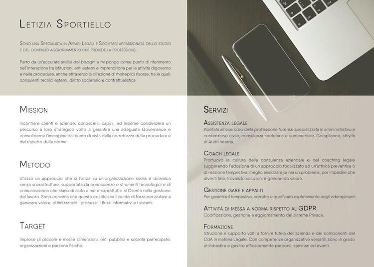ADC Marketing e Comunicazione crea la nuova Corporate Personal Branding per l'avvocato Letizia Sportiello